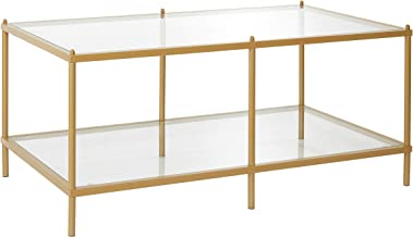 Urban Shop Gold with Mirrored Base Coffee Table