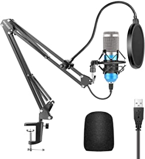 Neewer USB Microphone Kit 192KHZ/24BIT Plug&Play Computer Cardioid Mic Podcast Condenser Microphone with Professional Soun...