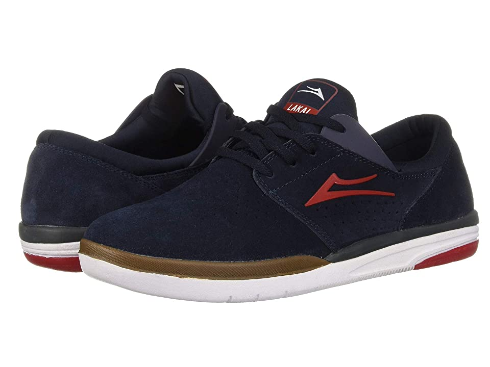 Lakai Fremont (Navy/Red Suede) Men