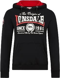 Lonsdale Men´s Regular-fit Wells Hoodie Hooded Sweatshirt Black