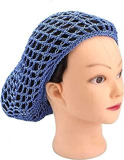 Monrocco 3 Pack Women Mesh Hair Net for Sleeping Crochet Hairnet (Blue)