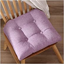 Dining Chair Cushions with Removable Cushion Cover and Ties, Cotton Linen Chair Pads with Supportive Filling, for Home Kit...