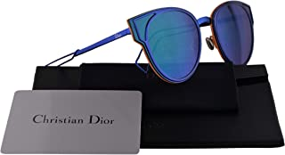 0bfd11f65 Christian Dior DiorSculpt Sunglasses Black Blue Shiny w/Green Mirror Lens  63mm KN9T5 DiorSculpt/