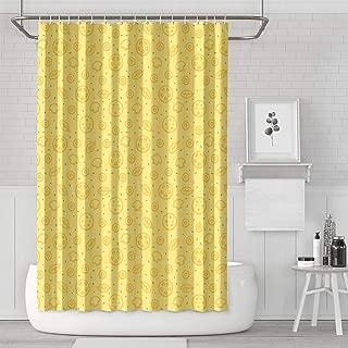 AKDJDS Summer Lemon Funny Shower Curtain with Hooks Bathroom Fabric Curtains - 72 X 72 Inch