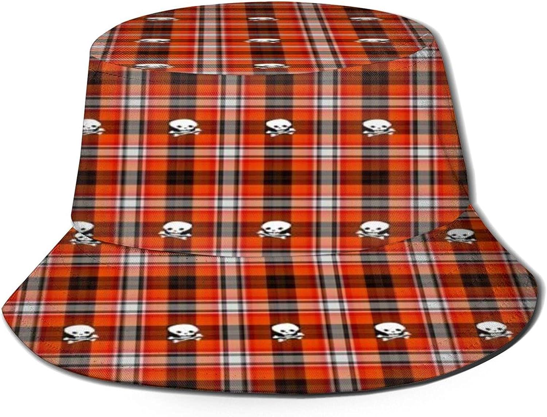 Scottish Terrier Kansas City Mall Plaid Bargain sale Skull Bucket Summer Sun Unisex Pa Hat