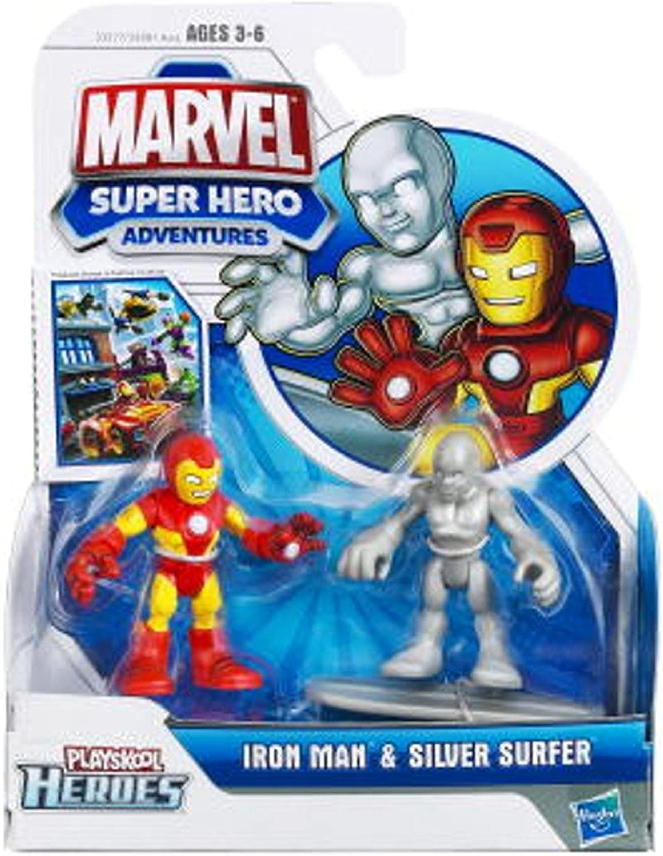 Playskool Marvel Super Hero Adventures Iron Man & Silber Surfer B00522XNF0 Schönes Design  | Offizielle Webseite