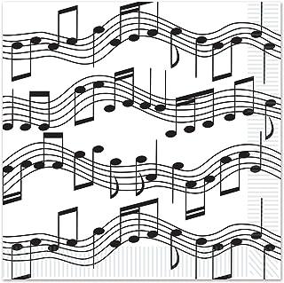 Musical Notes Design Beverage Napkins