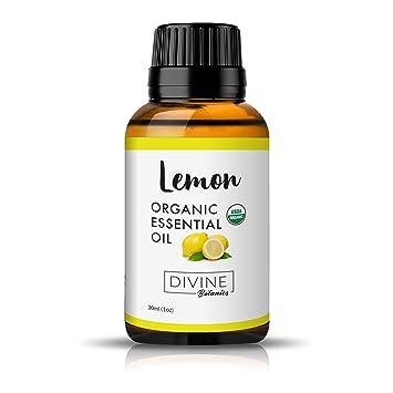 Amazon Com Divine Botanics Aceite Esencial Orgánico De Limón Beauty