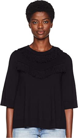 Broome Street Fringe Pullover Sweater