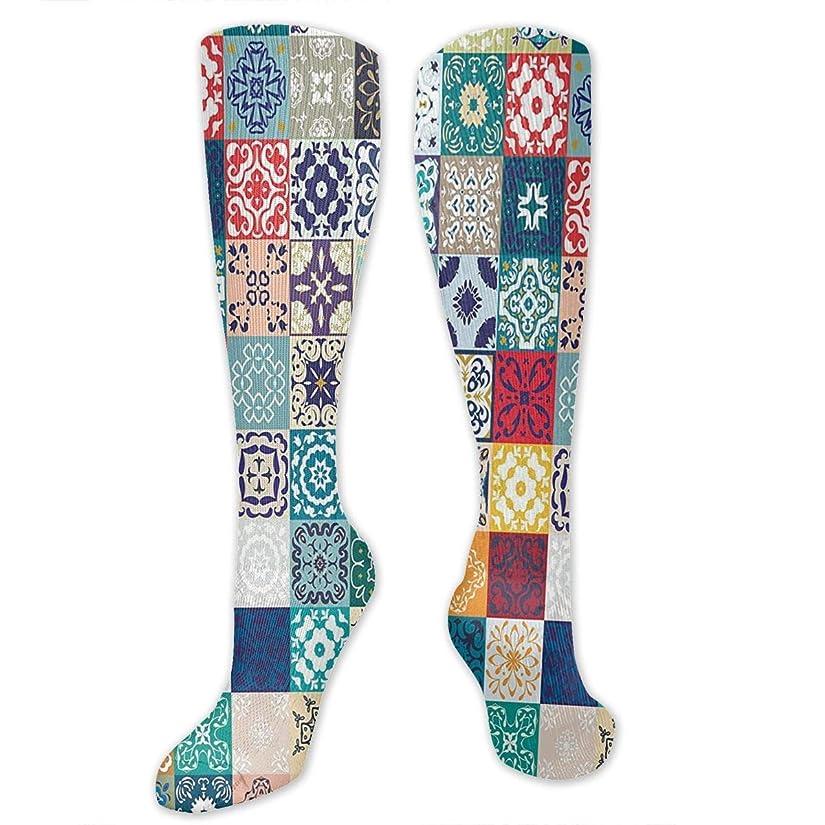 無効にするローマ人等靴下,ストッキング,野生のジョーカー,実際,秋の本質,冬必須,サマーウェア&RBXAA Mega Patchwork Pattern Socks Women's Winter Cotton Long Tube Socks Cotton Solid & Patterned Dress Socks