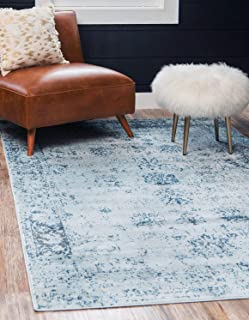 Unique Loom Sofia Collection Traditional Vintage Light Blue Area Rug (7' x 10')
