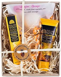 Manuka Honey MGO 514+ Skin Care Christmas Gift Box - Includes Manuka Honey Moisturizer, Ointment, and All Natural Konjac Sponge