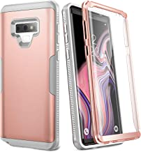YOUMAKER Case for Galaxy Note 9, Full Body Heavy Duty Protection with Built-in Screen Protector Shockproof Rugged Cover for Samsung Galaxy Note 9 (2018) 6.4 inch - Rose Gold/Gray