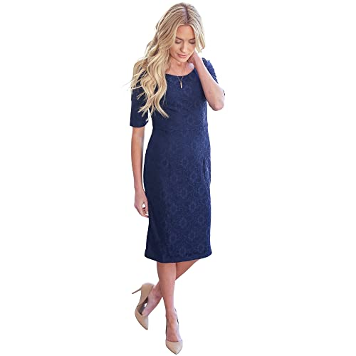 4be5f73bf531 Mikarose June Modest Pencil Dress In Lace