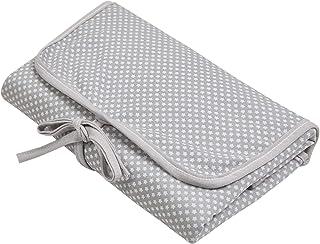 Trocador E Porta Fraldas Papi Malhas Portátil Estampado 66Cm X 40Cm 01 Un, Papi Textil, Cinza