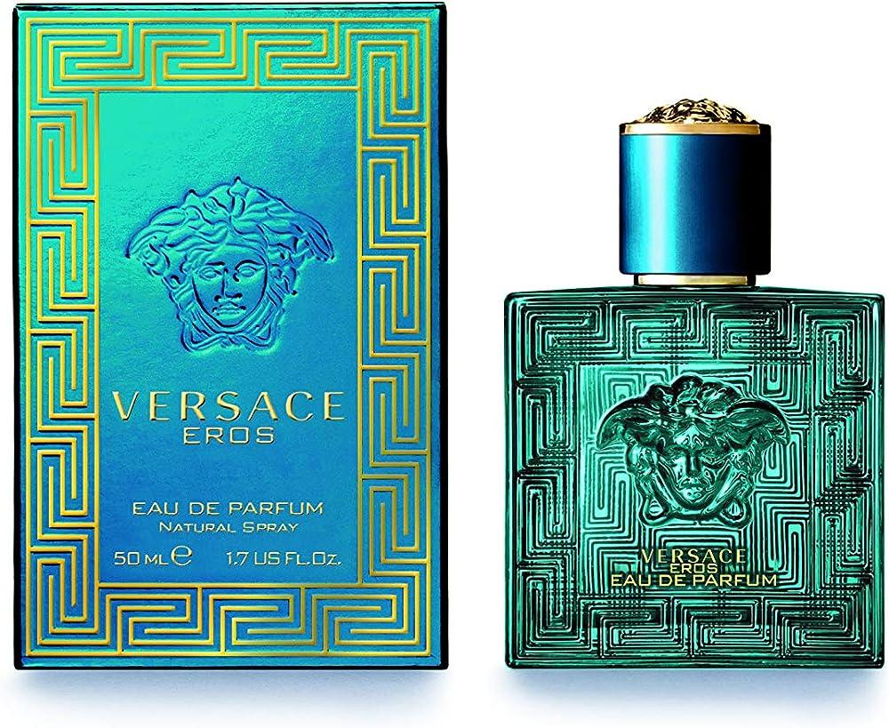 Gianni versace eros, eau de parfum, profumo per uomo, 50 ml 740108