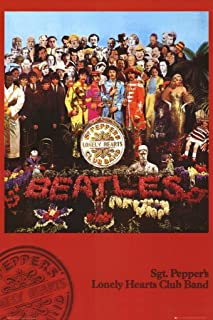 (24x36) The Beatles (Sgt. Pepper's Lonely Hearts Club Band, Red) Music Poster Print by Poster Revolution