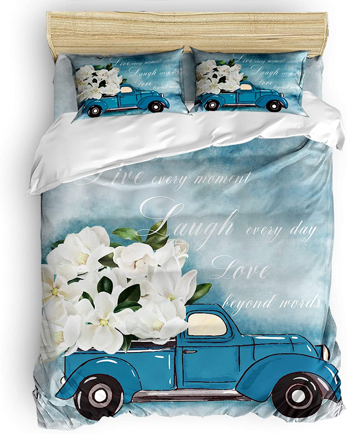 Infinidesign Floral 4 Pieces Duvet Comforter outlet Courier shipping free shipping w Cover Sets