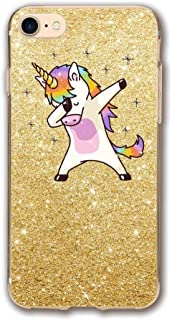 iPhone 6 Clear Case Unicorn Cute Dabbing Funny Dab Dance Printed Transparent Plastic with Durable Bumper Protective Back Phone Case Cover for Apple iPhone 7 (4.7 Inch)