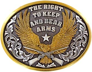 Nocona Belt Company The Right to Bear Arms Eagle Belt Buckle -- 37117