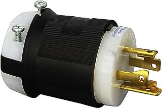 Hubbell HBL2721 Locking Plug, 30 amp, 3 Phase, 250V, L15-30P, Black and White
