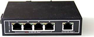 WIWAV WDH-5GT-POE 10/100/1000Mbps Unmanaged 5-Port PoE Industrial Ethernet Switches with DIN Rail/Wall-Mount (Fanless,-30℃~75℃)