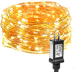LE String Lights 33ft with 100 LEDs, Waterproof Copper Wire Lights, Outdoor & Indoor Decorative Fairy Lights for Bedroom, Patio, Garden, Party, Wedding, Christmas and More