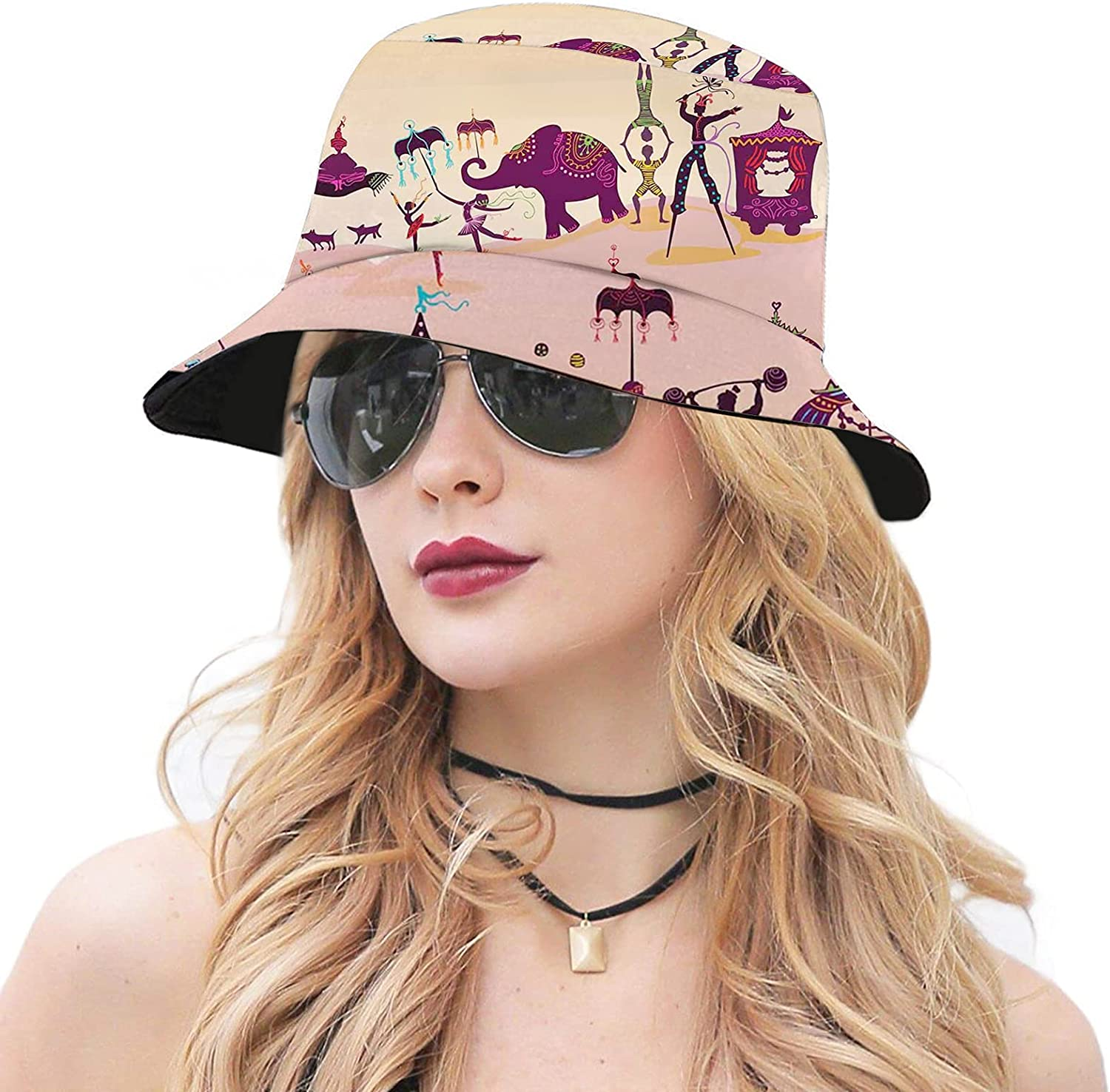 Colorful Adult Bucket Hat Packable Beach Travel Sun Fashionable Genuine Free Shipping Cap