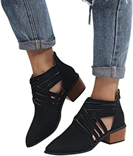 51da5676fb8 Hemlock Women Ankle Boots Shoes Low Heel Women Shoes Slip On Flat Ankle  Boots PU Leather
