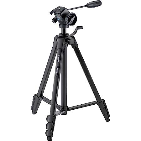 Velbon(ベルボン) ファミリービデオ三脚 EX-447 VIDEO II 4段 レバーロック 全高155cm 脚径20mm 小型 フリュード雲台 クイックシュー対応 スマホホルダー付属 アルミ脚 500663