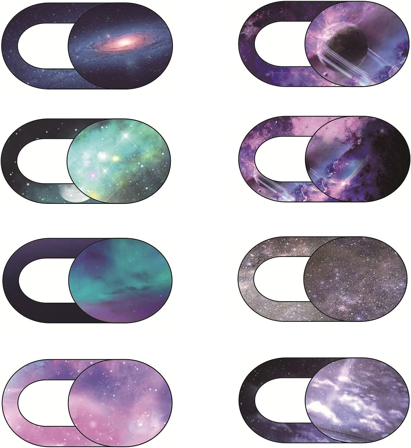 Webcam Cover 8 Packs, Ultra-Thin Camera Cover Privacy Protector, Cover Slide for Laptop/Mac/MacBook Air/iPad/iMac/PC/Cell Phone, Webcam Covers Laptop Accessories (Starry Sky)