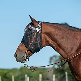 Cashel Quiet Ride Designer Horse Fly Mask, Leopard, Warmblood