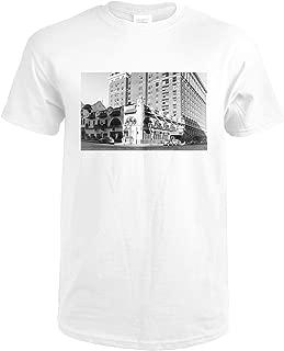 Spokane, WA View of Davenport Hotel Photograph 3176 (Premium White T-Shirt XX-Large)
