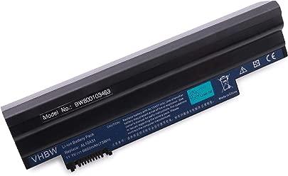 vhbw Li-Ion Akku 6600mAh 11 1V in schwarz Black passend f r ACER Aspire One E100 Happy wie AL10A31 AL10B31 AL10BW AL10G31 BT 00603 121 Schätzpreis : 54,86 €