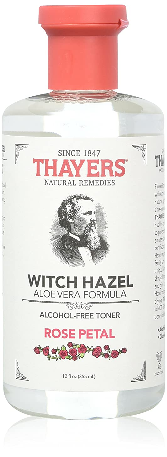 Thayers Alcohol-free Rose Petal Soothing Witch Hazel for Face & Skin with Aloe Vera, 12 oz?(Pack of 3)