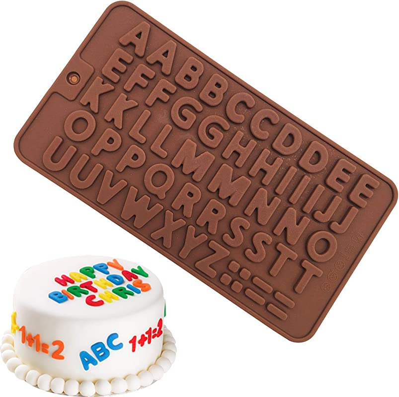 50 Capital Letters DIY Mold Silicone Handmade Cake Decoration Chocolate Ice Jelly Mould Tray