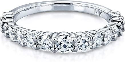 Kobelli 3/4 Carat TDW Graduated Diamond Wedding Band in 14k White Gold