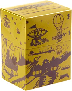 The Big Box Card Deck Box with Divider, Dueling Dirigibles - Oversized Deck Box for 60-card deck plus more - Card Deck Boxes for Magic the Gathering, Pokemon, Yugioh! & Sleeved or Unsleeved Cards