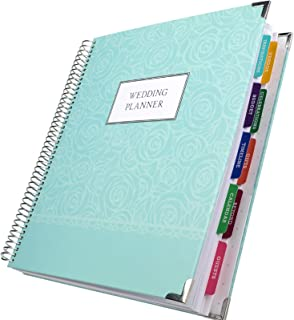 $28 » Wedding Planner 9x11 Hardcover Organizer, Bookmark, Planning Stickers, Business Card Holder, and Pocket Folders