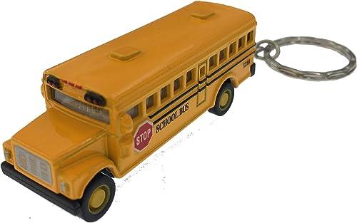 precio razonable Box of 12 12 12  Die-cast Mini School bus with Keychain by Kintoy  ventas de salida