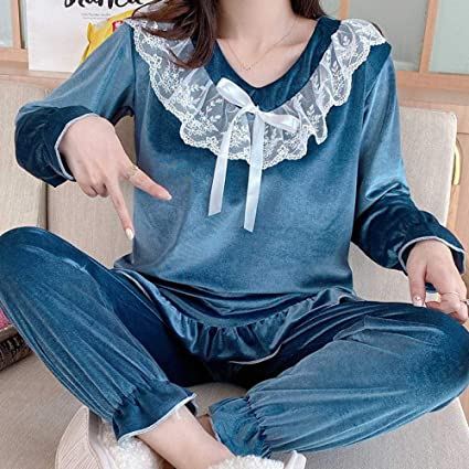 B/H Pijamas de Pijama para Mujer,Pijama de Invierno de ...