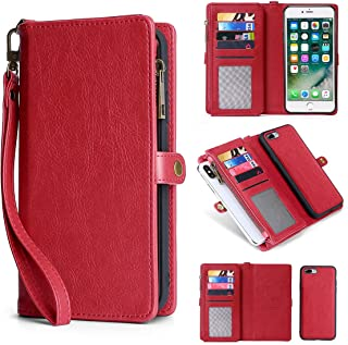 iPhone 7 Plus Wallet Case, iPhone 8 Plus Flip Case, MIncYB Magnetic Detachable Wallet Case for iPhone