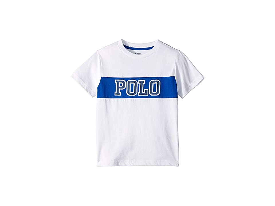 Polo Ralph Lauren Kids Cotton Jersey Graphic T-Shirt (Toddler) (White) Boy's T Shirt