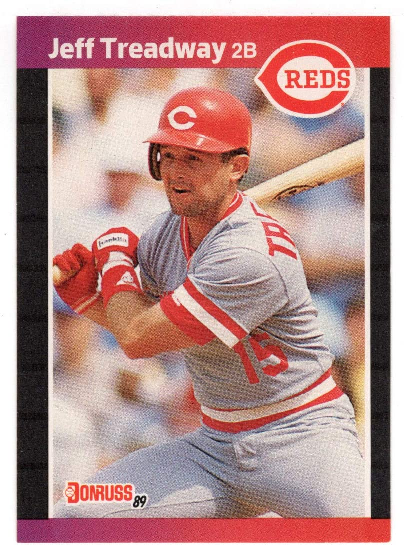 Jeff Treadway - Cincinnati Ranking TOP3 Reds Baseball Card Donruss Max 57% OFF # 3 1989