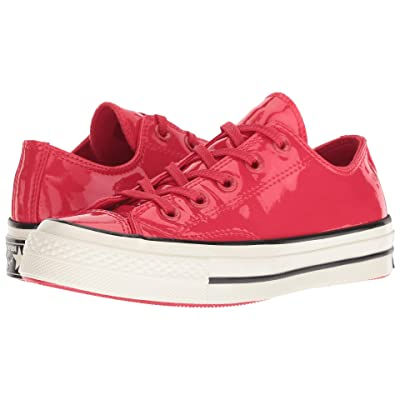 Converse Chuck 70 Leather Ox (Cherry Red/Black/Egret) Lace up casual Shoes
