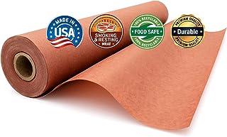 لفة ورق الجزار الوردي (45.12 سم × 175)، غير مبيضة وغير مشمع وغير مغلفة للتدخين والراحة من قبل شركة بيبر بروس