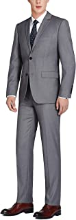 Men's 100% Wool Single Breasted Two Button Notch Lapel Classic Fit Suit
