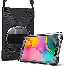 """ProCase Étui Antichoc pour Galaxy Tab A 10.1 2019 T510 T515 10.1 Pouces, Coque Housse Robuste à Rotation de 360°avec Béquille Dragonne Bandoulière Réglable pour Galaxy Tab A 10,1"""" –Noir"""