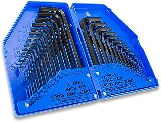 Plata C45854 Acero //CR-V// Altura de Llaves de 63mm a 180mm AERZETIX Juego de 9 piezas Llaves Allen Machos Brazos Cortos Hexagonales 6 Lados 1.5//2//2.5//3//4//5//6//8//10mm Herramientas manuales