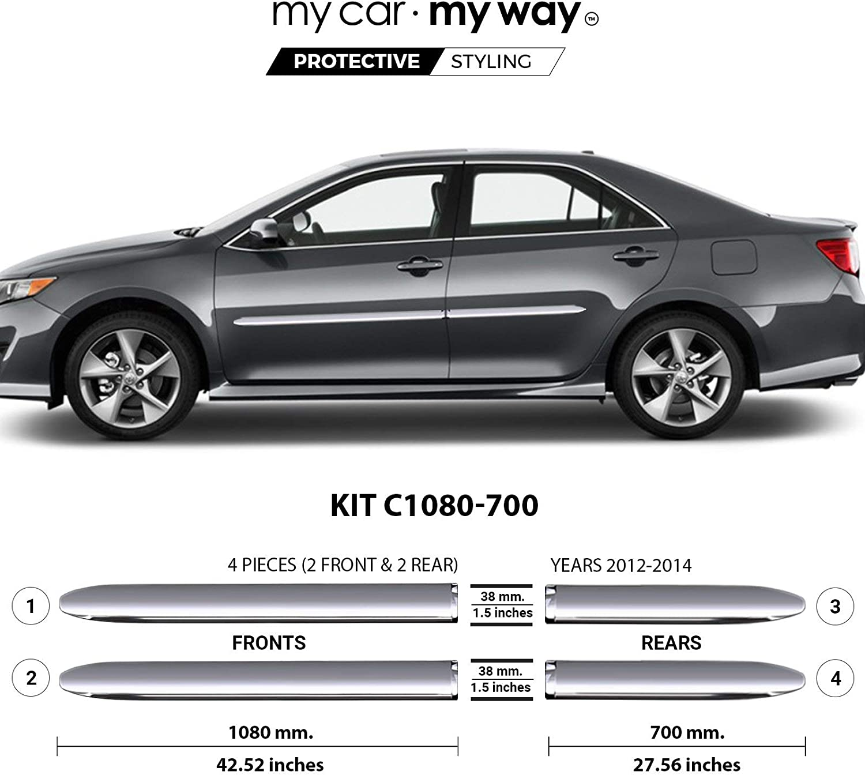 MY CAR WAY Popular popular Chrome Body Side Protector Rare Door Molding Fits Trim